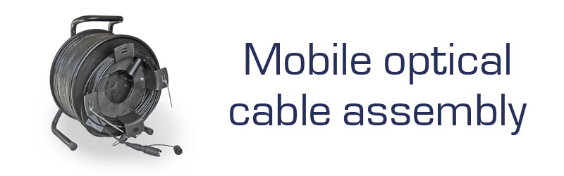 Mobile optical cable assembly (MOCA)